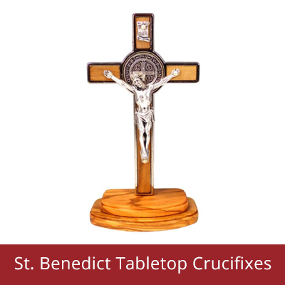 Illness - Saint Benedict Tabletop Crucifixes