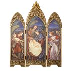 "NATIVITY TRIPTYCH WITH ANGEL, SHEPHERD AND STAR - 36"" - 1"
