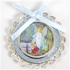 GUARDIAN ANGEL CRIB MEDAL - BLUE - 1