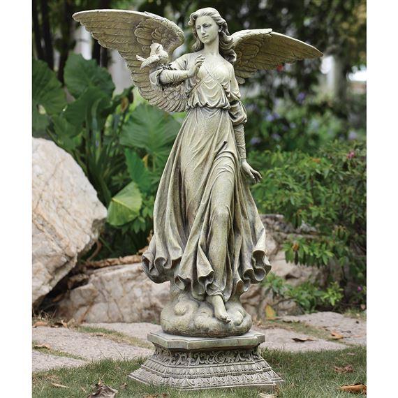 Classic Angel Garden Statue Ewtn, Angel Outdoor Statues