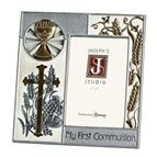 MY FIRST COMMUNION - SILVER & GOLD PICTURE FRAME - 1