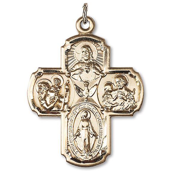 14kt Gold 4-Way Medal