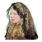 ILLUSION TULLE OVAL MANTILLA - BLACK - 1
