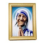 ST. TERESA OF CALCUTTA PICTURE IN EASEL FRAME - 1