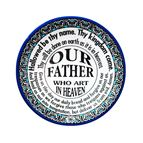 THE OUR FATHER - DECORATIVE CERAMIC PLATE - 1