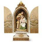 HOLY FAMILY JEWELED TEXTURED TRIPTYCH - 1