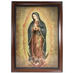 OUR LADY OF GUADALUPE IN DARK WOOD FRAME - 1