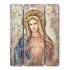 IMMACULATE HEART OF MARY PANEL PLAQUE - 1