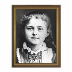 ST. THERESE CHILDHOOD PHOTO - GOLD FRAME - 1