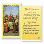 LAMINATED HOLY CARD MEAL PRAYER - 1