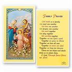 LAMINATED HOLY CARD FAMILY PRAYER - 1