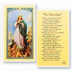 LAMINATED HOLY CARD - PRAYER TO OUR LADY - 1