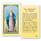 LAMINATED HOLY CARD - MEMORARE OF ST. BERNARD - 1