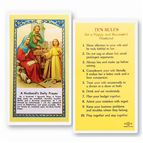 LAMINATED HOLY CARD - TEN RULES - HUSBAND - 1