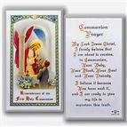 LAMINATED HOLY CARD BOY FIRST COMMUNION - 1