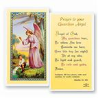 LAMINATED HOLY CARD - GUARDIAN ANGEL - BOY - 1