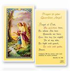 LAMINATED HOLY CARD - GUARDIAN ANGEL - GIRL - 1