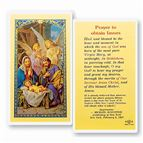 LAMINATED HOLY CARD PRAYER TO OBTAIN FAVORS - 1