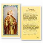 LAMINATED HOLY CARD - NOVENA TO ST. PETER - 1