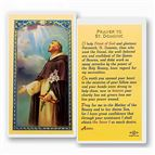 LAMINATED HOLY CARD - ST. DOMINIC - 1