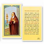 LAMINATED HOLY CARD - ST. CLARE - 1