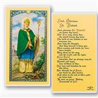 LAMINATED HOLY CARD - HAIL GLORIOUS ST. PATRICK - 1