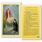 LAMINATED HOLY CARD - THE PROMISES OF OUR LORD - 1
