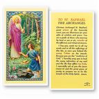 LAMINATED HOLY CARD - ST. RAPHAEL THE ARCHANGEL - 1