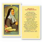 LAMINATED HOLY CARD - ST. BERNADETTE - 1
