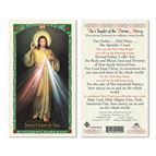 LAMINATED HOLY CARD THE CHAPLET OF DIVINE MERCY - 1