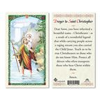 LAMINATED HOLY CARD - ST. CHRISTOPHER - 1