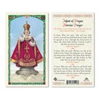 LAMINATED HOLY CARD - INFANT OF PRAGUE (NOVENA) - 1