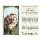LAMINATED HOLY CARD - SAINT ANTHONY - 1