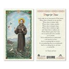 LAMINATED HOLY CARD - SAINT FRANCIS - 1