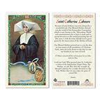 LAMINATED HOLY CARD - ST. CATHERINE LABOURE - 1