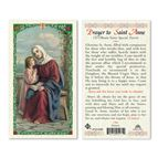 LAMINATED HOLY CARD - ST. ANNE - 1