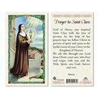 LAMINATED HOLY CARD - SAINT CLARE - 1