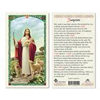 LAMINATED HOLY CARD - GOOD SHEPHERD (FOOTPRINTS) - 1