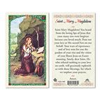LAMINATED HOLY CARD - SAINT MARY MAGDALENE - 1