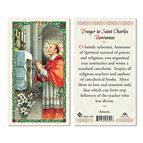 LAMINATED HOLY CARD - ST. CHARLES BORROMEO - 1