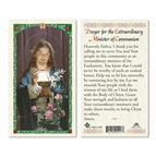 LAMINATED HOLY CARD-EXTRAORDINARY MINISTER PRAYER - 1