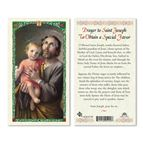 LAMINATED HOLY CARD - ST. JOSEPH FOR SPECIAL FAVOR - 1