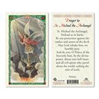 LAMINATED HOLY CARD SAINT MICHAEL THE ARCHANGEL - 1
