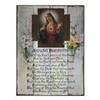 SACRED HEART OF JESUS HOUSE BLESSING WOOD PLAQUE - 1