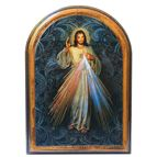 DIVINE MERCY ARCHED PLAQUE - SMALL - 1