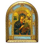 OUR LADY OF PERPETUAL HELP WOOD PLAQUE - 1