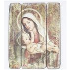 MADONNA AND CHILD PANEL PLAQUE - 1