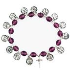 PURPLE BEAD STATIONS OF THE CROSS BRACELET - 1