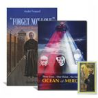 ST. MAXIMILIAN KOLBE BOOK & DVD SET WITH HOLY CARD - 1