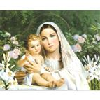 MADONNA OF THE LILIES -  UNFRAMED PRINT 8 X 10 - 1